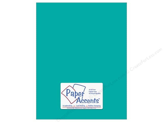 Cardstock 8 1/2 x 11 in. #145 Smooth Sea Blue by Paper Accents (25 sheets)