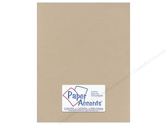 Cardstock 8 1/2 x 11 in. #304 Recycled Kraft by Paper Accents (25 sheets)