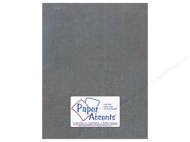 Cardstock 8 1/2 x 11 in. #409 Linen Charcoal by Paper Accents (25 sheets)