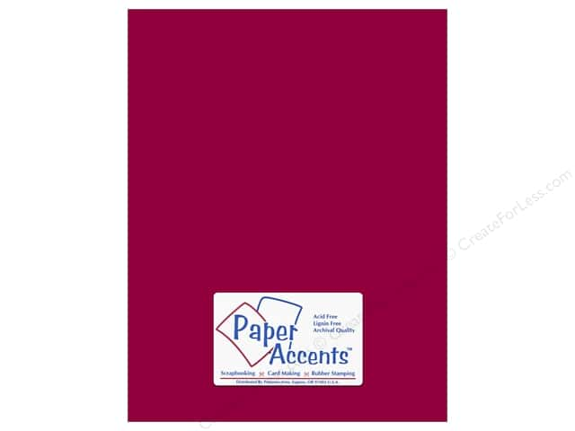 Cardstock 8 1/2 x 11 in. #511 Columns Red by Paper Accents (25 sheets)