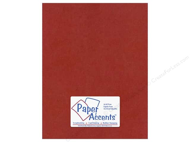Paper Accents Cardstock 8 1/2 x 11 in. #414 Linen Olde Towne Red (25 sheets)