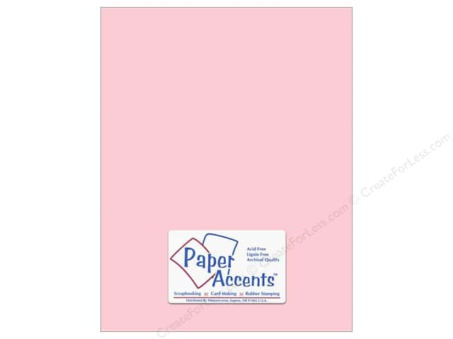 Cardstock 8 1/2 x 11 in. #171 Smooth Baby Pink by Paper Accents (25 sheets)