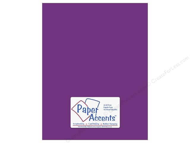 Cardstock 8 1/2 x 11 in. #10014 Stash Builder Blackberry by Paper Accents (25 sheets)
