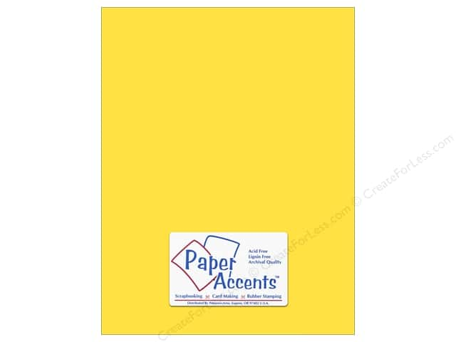 Paper Accents Cardstock 8 1/2 x 11 in. #10040 Stash Builder Lemon (25 sheets)