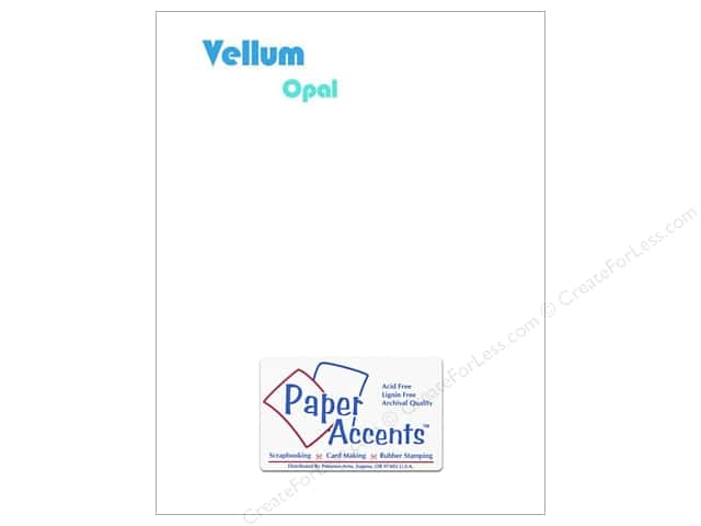Vellum 8 1/2 x 11 in. #952 Opal by Paper Accents (25 sheets)
