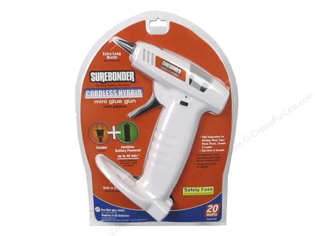 Surebonder Glue Gun Mini High Temperature 20 Watt Cordless Hybrid