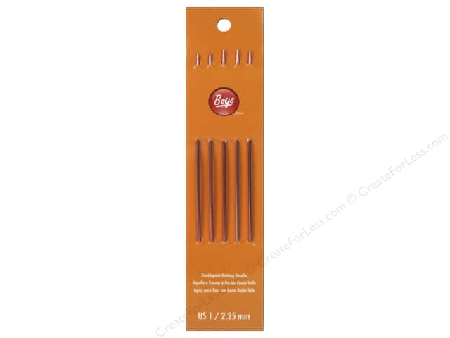 Boye Double Point Knitting Needles Aluminum 7 in. Size 1 (2.25 mm)