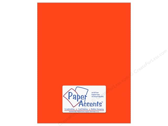 Paper Accents Cardstock 8 1/2 x 11 in. #10080 Stash Builder Mandarin (25 sheets)