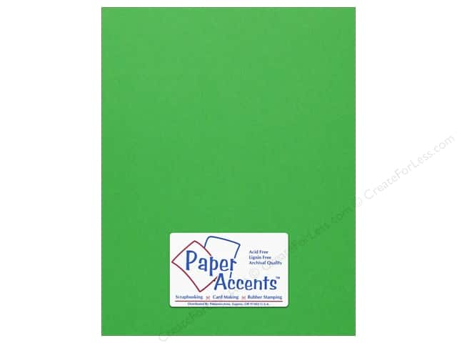 Cardstock 8 1/2 x 11 in. #102 Smooth Kelly Green by Paper Accents (25 sheets)