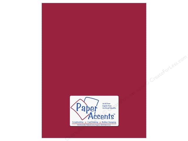 Paper Accents Cardstock 8 1/2 x 11 in. #139 Smooth Dark Red (250 sheets)