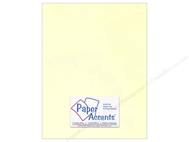 Cardstock 8 1/2 x 11 in. #122 Smooth Ivory by Paper Accents (250 sheets)