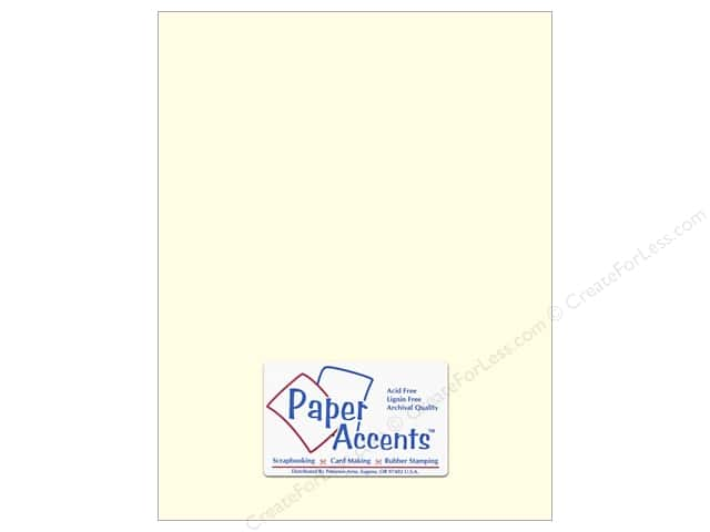 Cardstock 8 1/2 x 11 in. #402 Linen Light Ivory by Paper Accents (250 sheets)