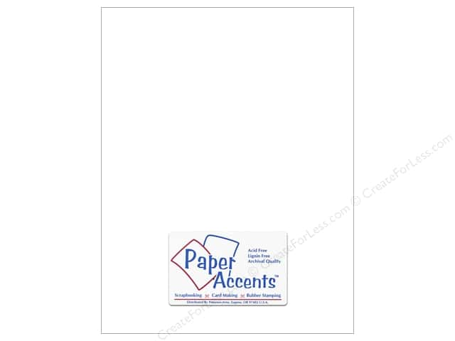 Cardstock 8 1/2 x 11 in. #129 Smooth Matte White by Paper Accents (25 sheets)