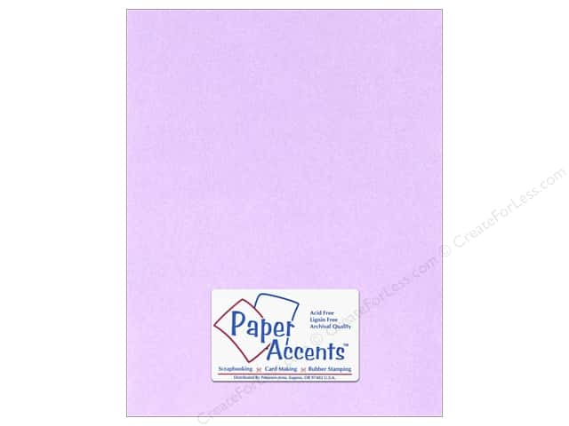 Paper Accents Stationery 8 1/2 x 11 in. Lavender 25 pc.