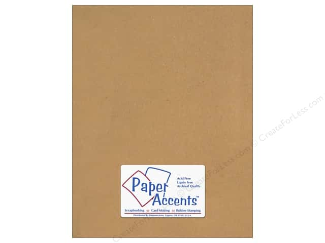 Paper Accents Stationery 8 1/2 x 11 in. Recycled Brown Bag 25 pc.
