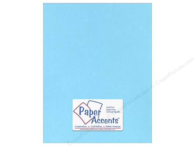 Paper Accents Stationery 8 1/2 x 11 in. Light Blue 25 pc.