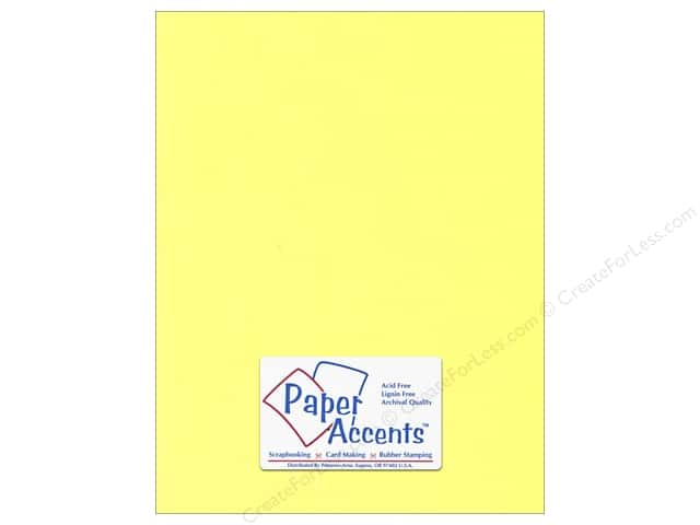 Paper Accents Stationery 8 1/2 x 11 in. Light Yellow 25 pc.