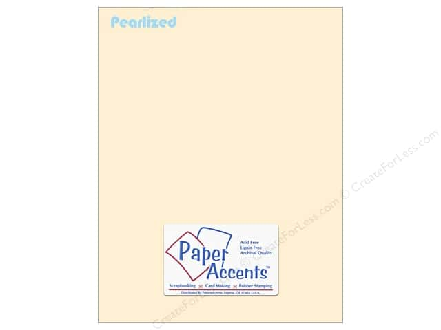 Paper Accents Stationery 8 1/2 x 11 in. Pearlized Cream 25 pc.