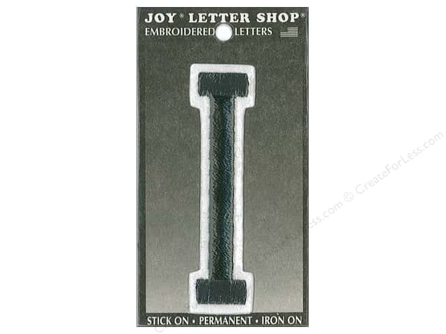 "Joy Lettershop Iron-On Embroidered Letter ""I"" 3 in. Black"