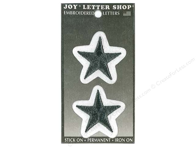 Joy Lettershop Iron-On Embroidered Star 3 in. Black