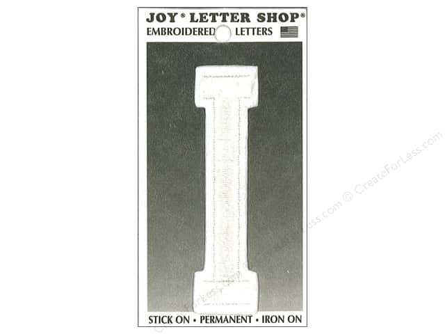 "Joy Lettershop Iron-On Embroidered Letter ""I"" 3 in. White"
