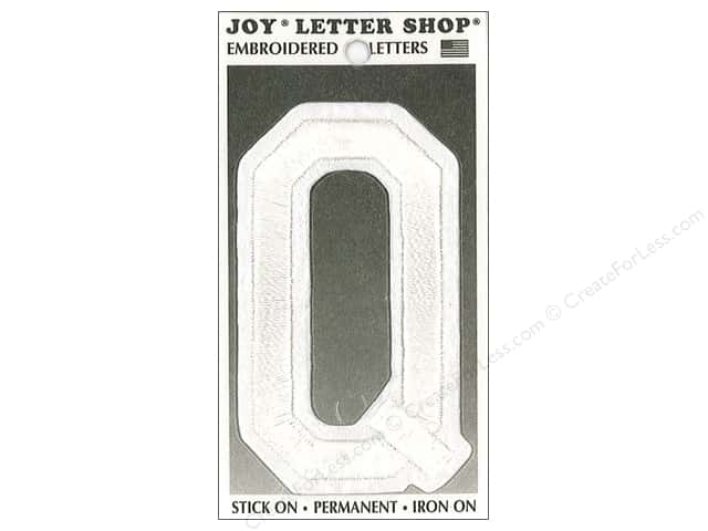 "Joy Lettershop Iron-On Embroidered Letter ""Q"" 3 in. White"