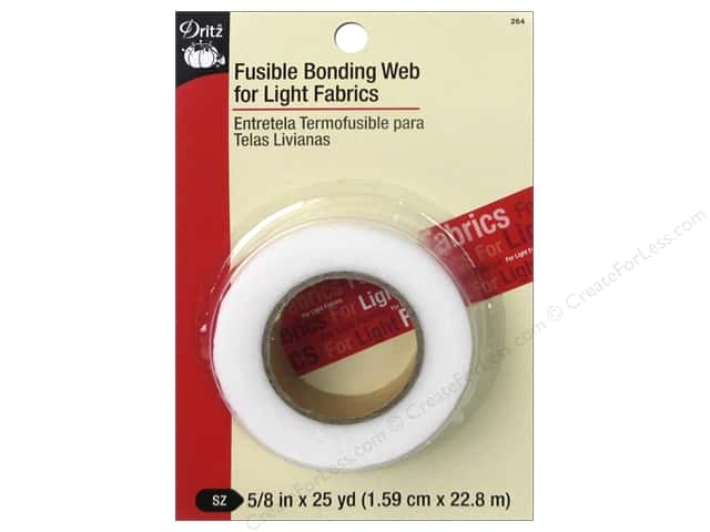 "Dritz Fusible Bonding Web For Light Fabrics 5/8""x 25yd White"