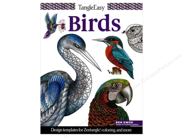 Design Originals TangleEasy Birds Book