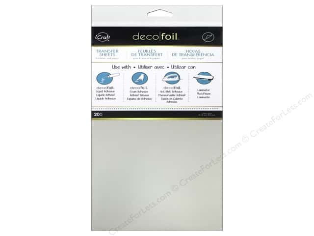 iCraft Deco Foil Sheet 6 x 12 in. 20 pc. Silver