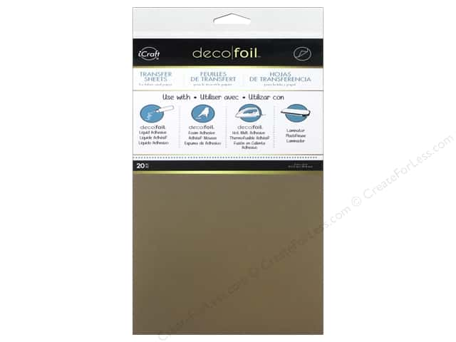 iCraft Deco Foil Sheet 6 x 12 in. 20 pc. Rose Gold