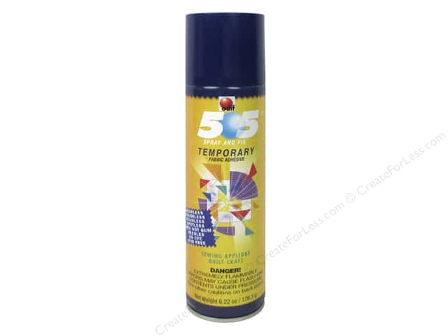 Odif Adhesive 505 Spray & Fix Temporary Fabric 6.22oz