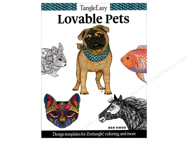 Design Originals TangleEasy Loveable Pets Book