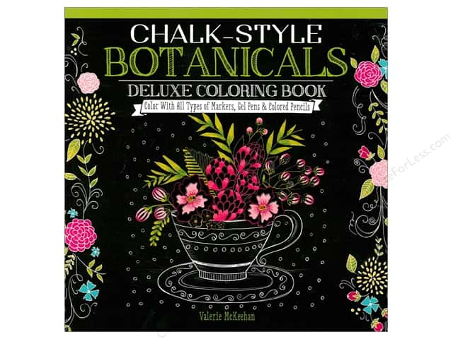 Design Originals Chalk-Style Botanicals Deluxe Coloring Book