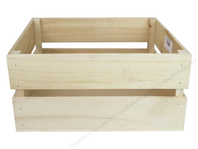 Walnut Hollow Wood Crate Rustic Large