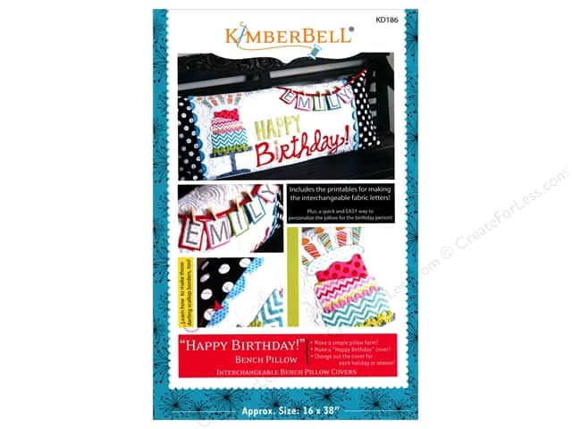 Kimberbell Designs Happy Birthday! Bench Pillow Pattern