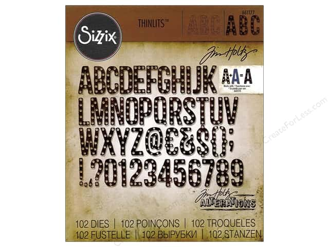 Sizzix Thinlits Die Set 102 pc. Alphanumeric Marquee