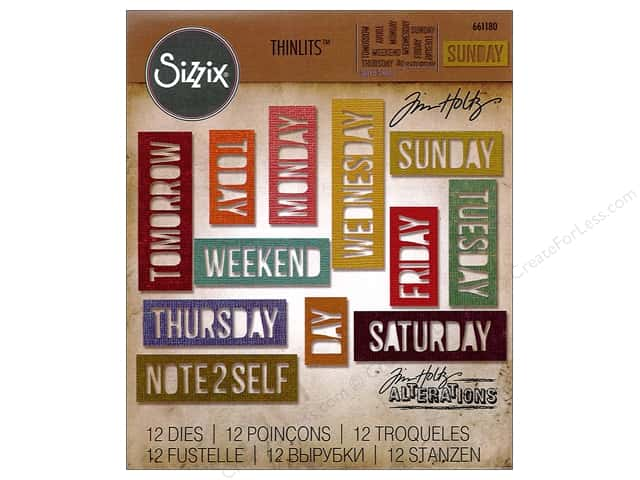 Sizzix Thinlits Die Set 12 pc. Daily Words: Block