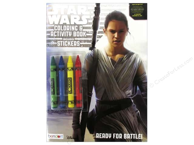 Bendon Coloring & Activity Book with Crayons Star Wars