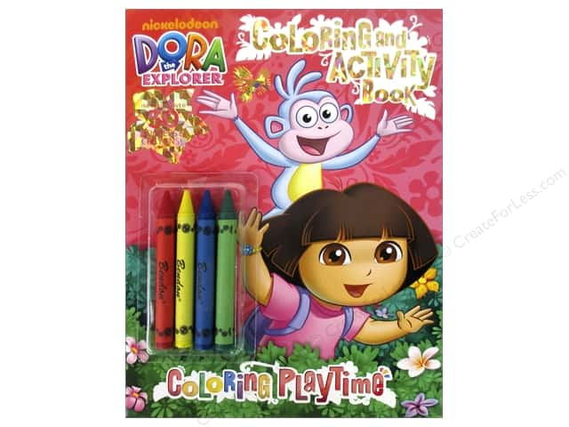 Bendon Coloring & Activity Book with Crayons Dora The Explorer