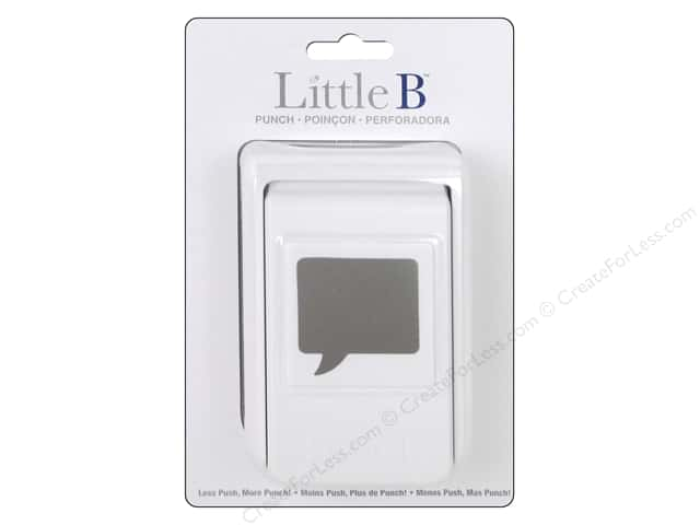 Little B Paper Punch Speech Bubble