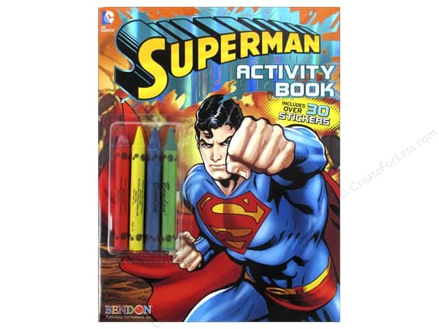 Bendon Coloring & Activity Book with Crayons Superman