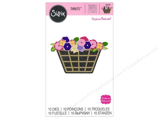 Sizzix Thinlits Die Set 10 pc. Flower Basket