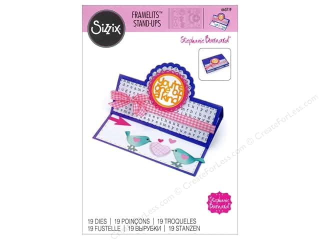 Sizzix Framelits Die Set 19 pc. Scallop Circle Stand-Ups Card