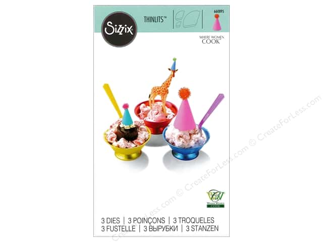 Sizzix Thinlits Die Set 3 pc. Tiny Party Hat