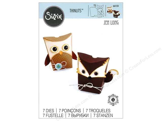 Sizzix Thinlits Die Set 6 pc. Owl & Fox Box