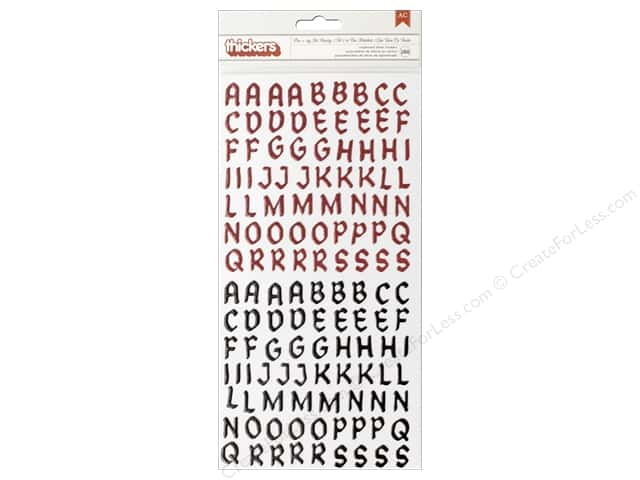 Imaginisce Party Me Hearty Thickers Chipboard Stickers Red