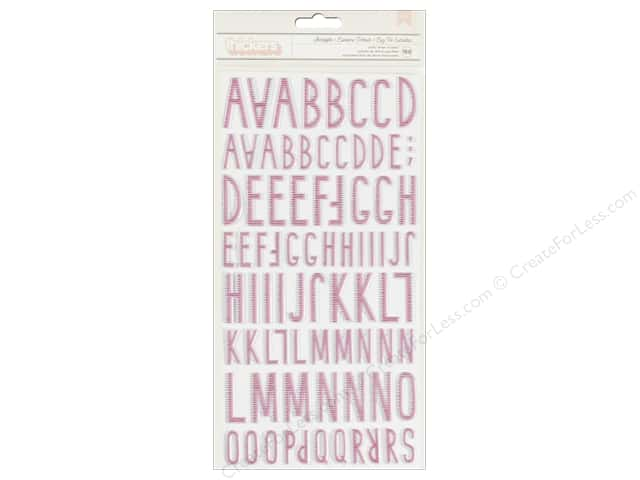 Crate Paper Thickers Alphabet Stickers Starlight Pink