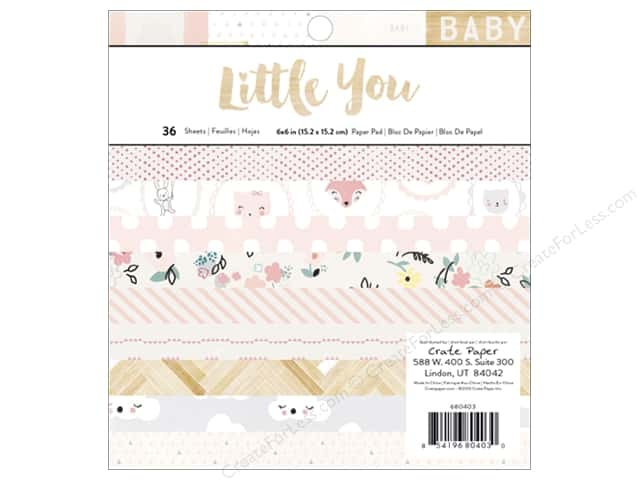 Crate Paper 6 x 6 in. Paper Pad Little You Girl