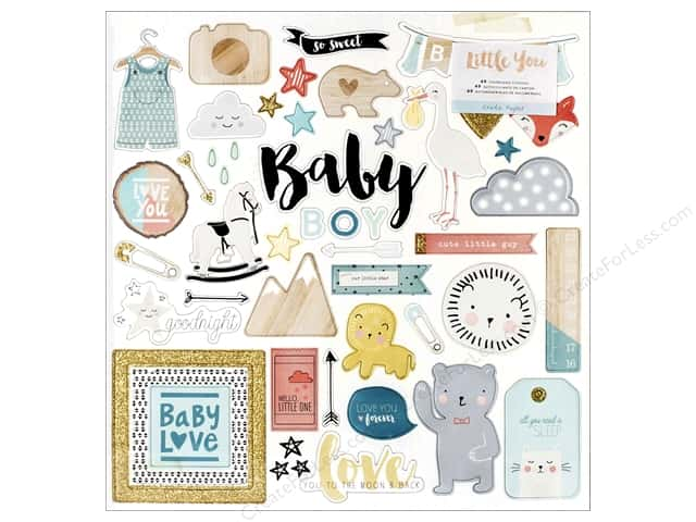 Crate Paper Stickers Little You Adhesive Chipboard