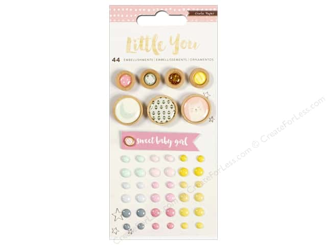 Crate Paper Mixed Embellishments Little You Girl